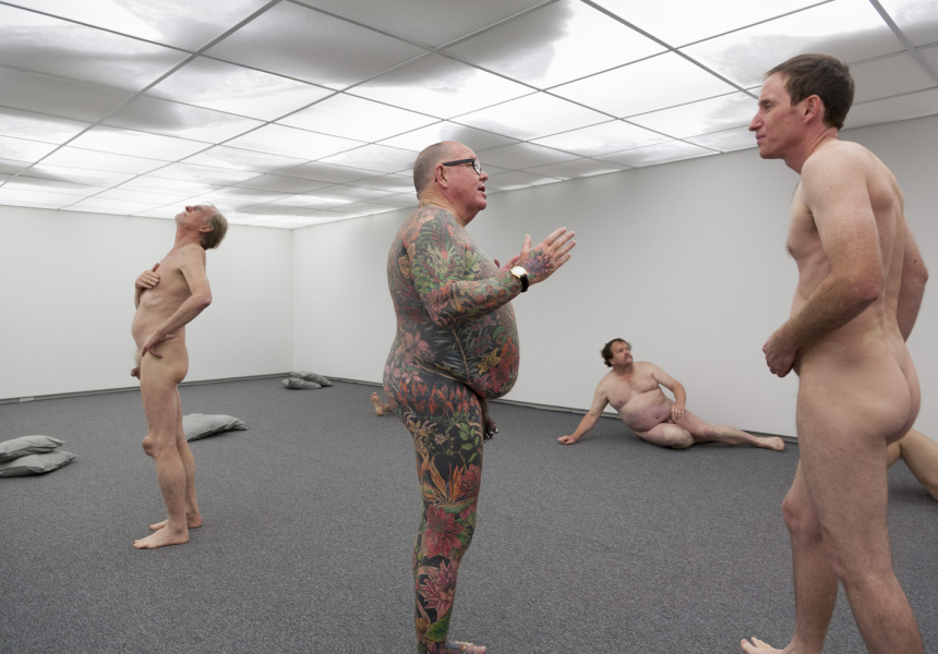 Stuart Ringholt Preceded by a tour of the show by artist Stuart Ringholt, 6-8pm. (The artist will be naked. Those who wish to join the tour must also be naked. Adults Only.) 2011-ongoing Artist talk, MCA Sydney Photo: Christo Crocker Courtesy the artist and Milani Gallery, Brisbane
