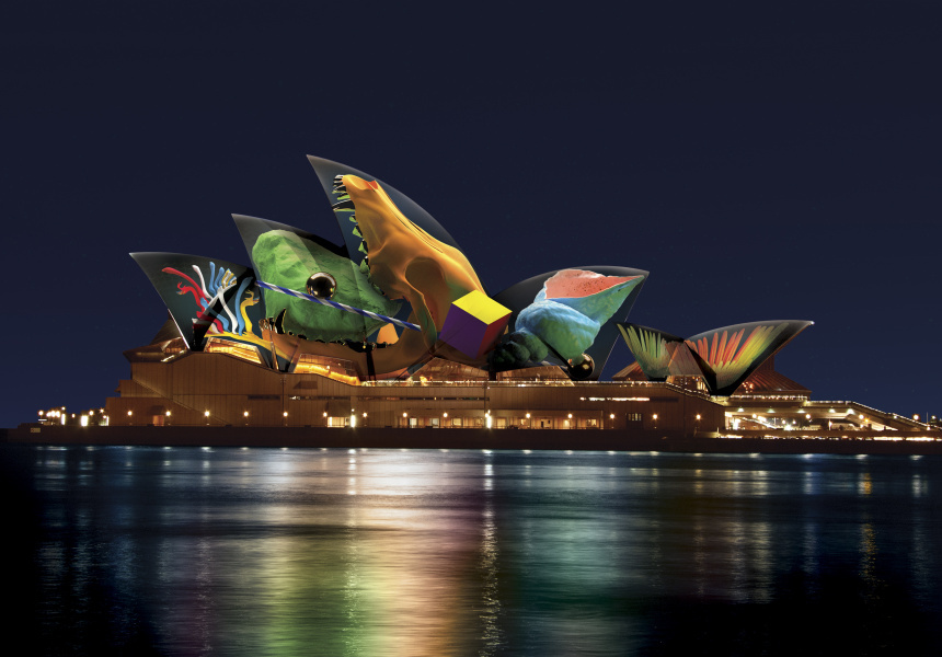The Sydney Opera House during Vivid 2018