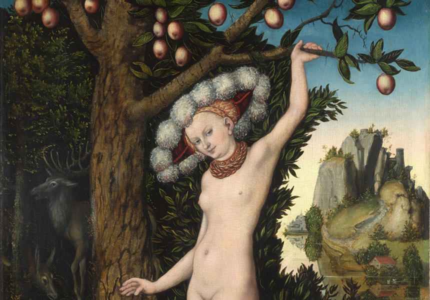 Cupid Complaining to Venus, Lucas Cranach the Elder (1525) - at wtf renaissance