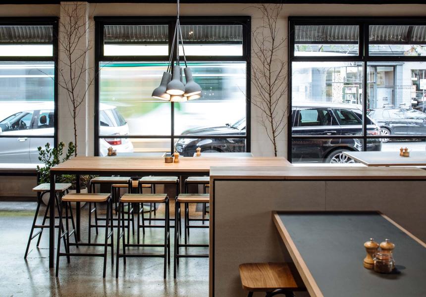 The Broadsheet Restaurant - hurdle stools