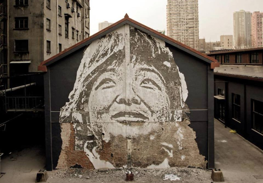 Scratching the Surface by Vhils - Shanghai