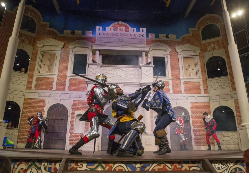The Pop-Up Globe Theatre that toured through Melbourne earlier this year.