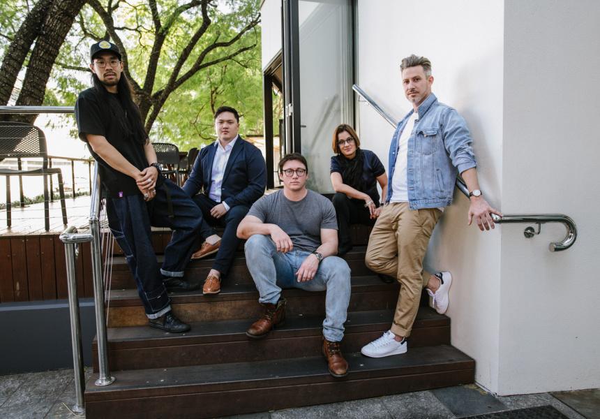 L-R: Ben Chiu, Cameron Votan, Dane Huitfeldt, Celine Damour and Tom Sanceau