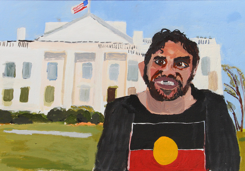 Vincent Namatjira, Coming to America, 2019