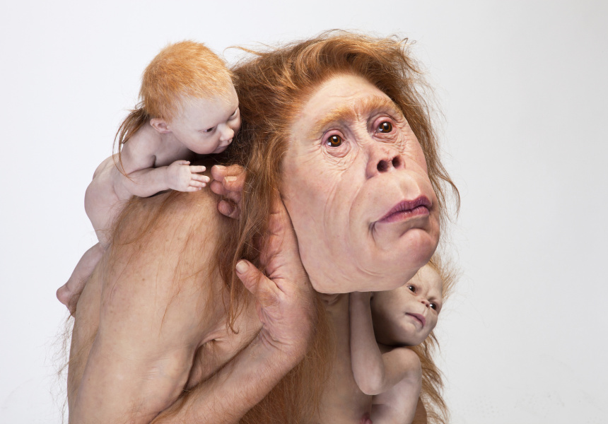 Patricia Piccinini Kindred 2018 silicone, fibreglass, hair 103 x 95 x 128 cm The Michael and Janet Buxton Collection, Melbourne