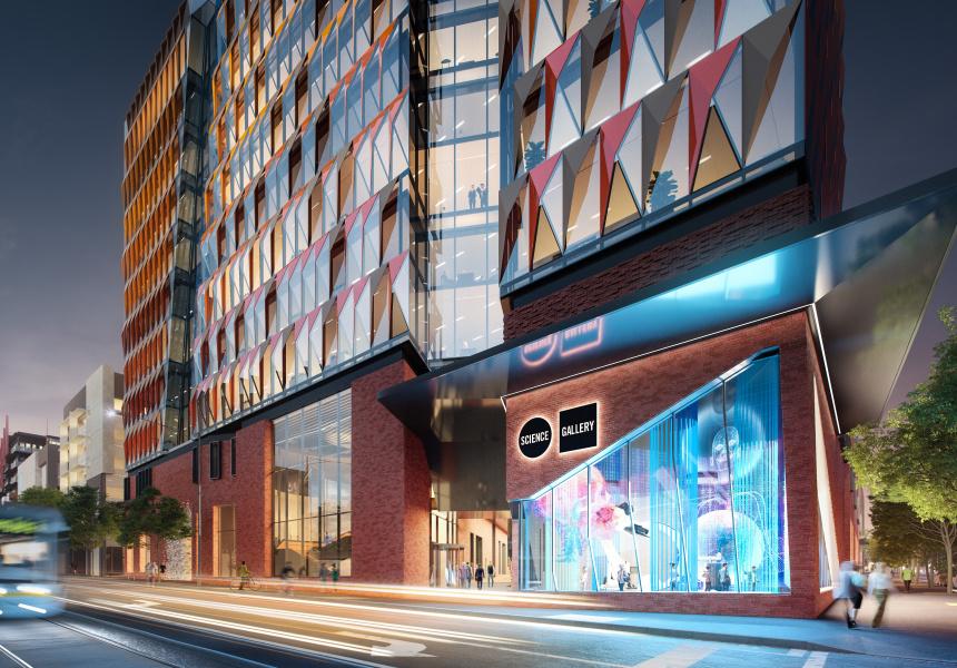 Artist's impression of the new Melbourne University precinct.