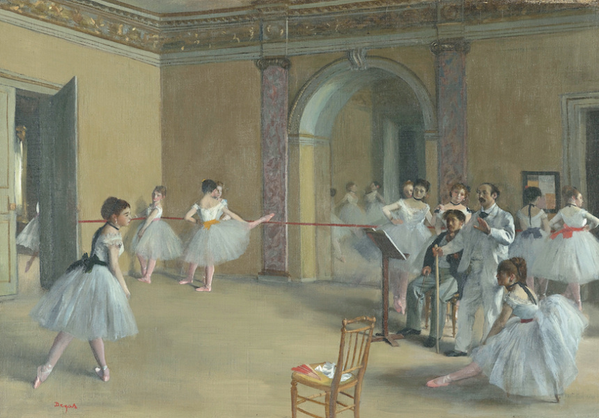 Rehearsal hall at the Opera, rue Le Peletier, 1872