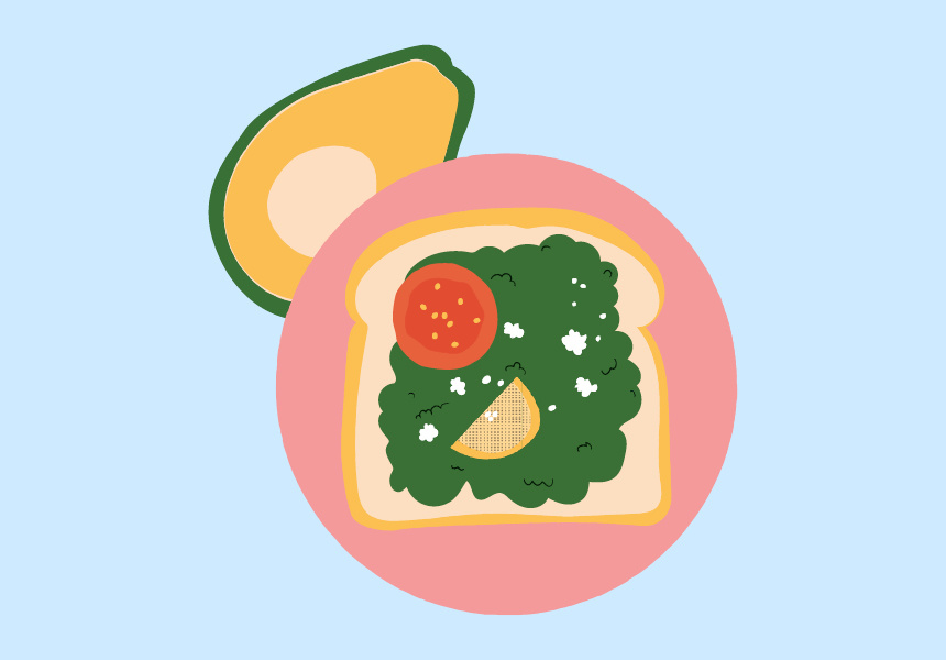 Smashed avo. Illustration by Jazz Feldy