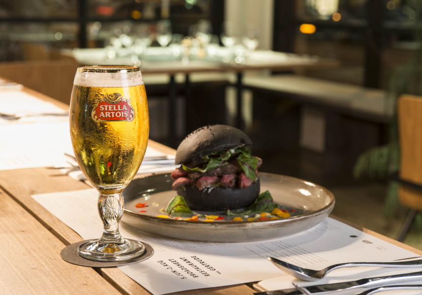 Stella Artois and The Kettle Black's Cape Grim Beef Burger