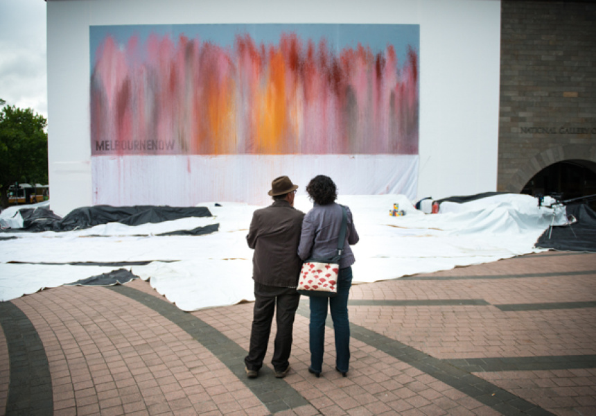 Ash Keating's mural at the NGV for Melbourne Now