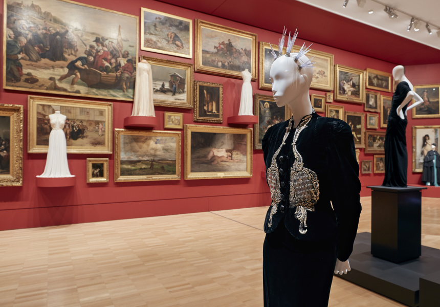 Installation view of Krystyna Campbell-Pretty Fashion Gift, on display at NGV International from 1 March 2018 – 14 July 2019