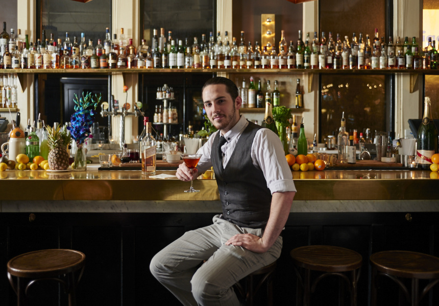 The Toff In Town's (Melbourne) Jonathan Minihan who competed in this year's Top 25 at the Australian Diageo Reserve World Class Finals.