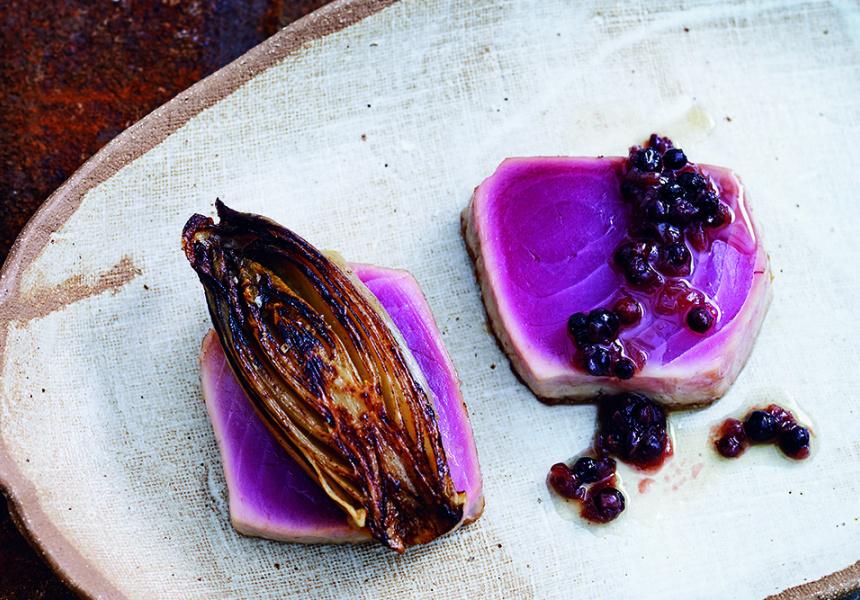 Tuna Steaks with Endive
