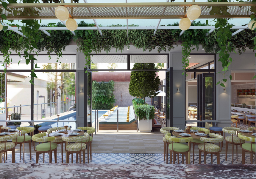 Rooftop pool at Art Series Hotel Perth, Artist's Impression