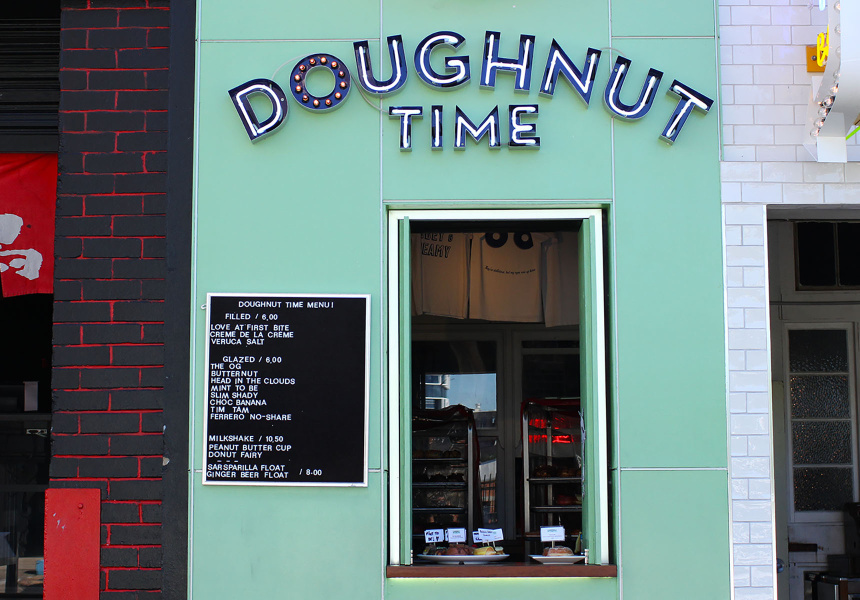 The original Doughnut Time store in Fortitude Valley, Queensland