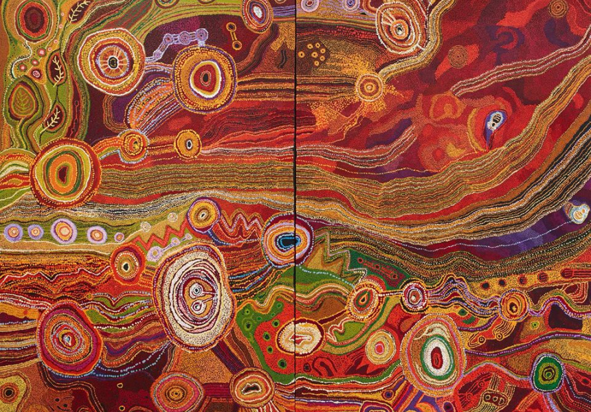 """Seven Sisters"" by Ken Family Collaborative. Winner of the Wynne Prize."