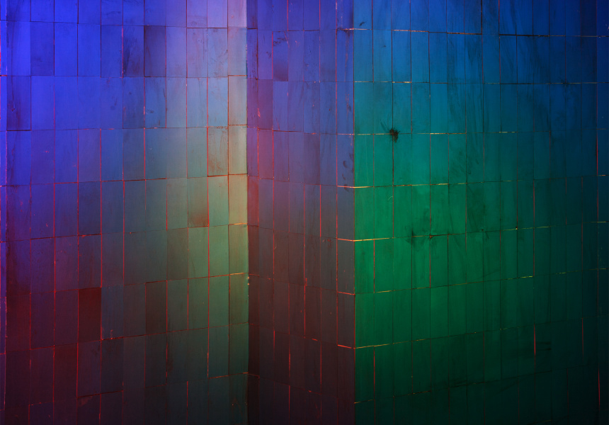 Colourful Wall 2015, archival inkjet print  120 x 150 cm. Image courtesy Chen Wei/Leo Xu Projects