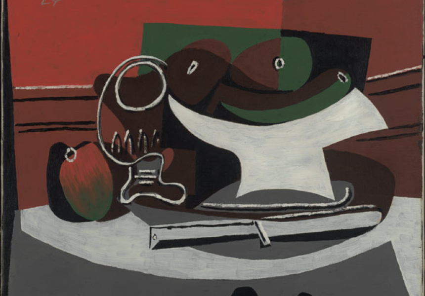 Pablo Picasso Still life [Nature mort] 1924 oil on canvas 38.1 x 45.7 cm Bequest of Saidie A May, Baltimore Museum of Art Photography by Mitro Hood © Succession Picasso/Copyright Agency