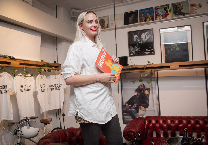 Ellena Savage at a recent launch for The Lifted Brow. The longest-serving editor of the magazine today, Savage and co-editor Gillian Terzis have made way for new editors Annabel Brady-Brown and Zoe Dzunko.