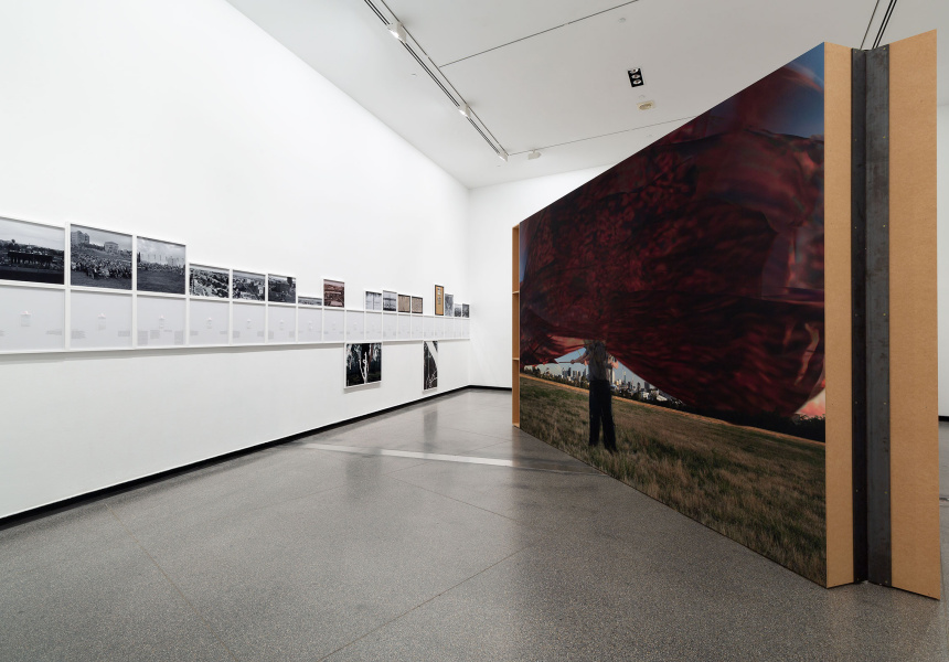 Tom Nicholson, Public Meeting 2019, installation view, Australian Centre for Contemporary Art, Melbourne.