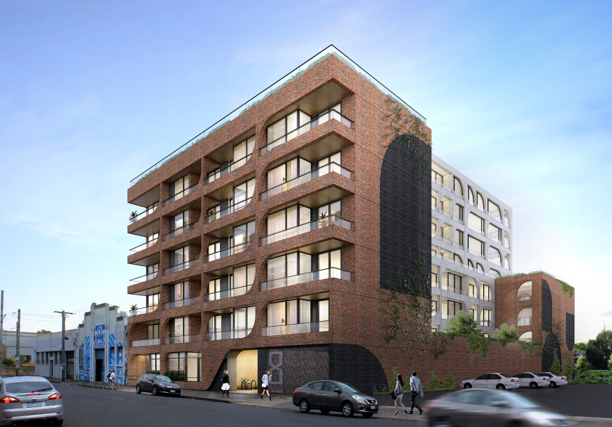 SJB Architect's proposal for the new apartment building.