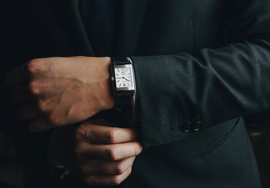 Watch: Jaeger-LeCoultreGrande Reverso Ultra Thin Duoface on Casa Fagliano strap.