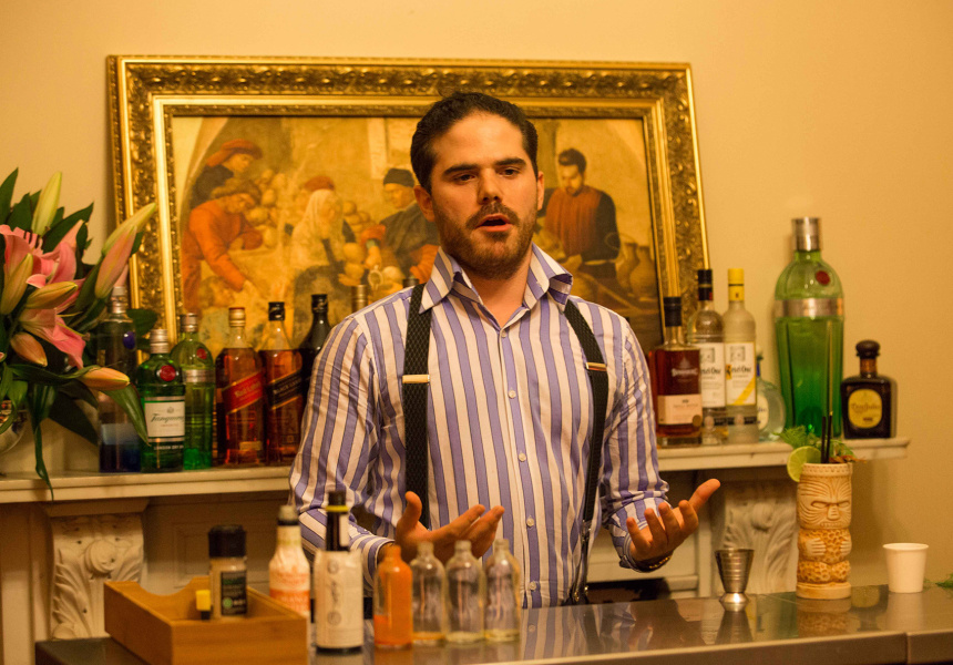 Jack Sotti competing in the Diageo Reserve World Class Australia Grand Final