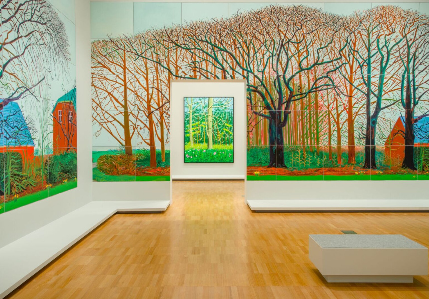 David Hockney: Current, installation view, NGV