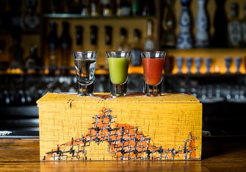 Tequila, Verdita, Sangrita.