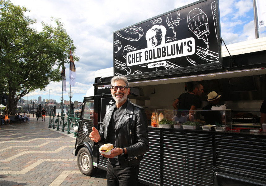 Goldblum at the Chef Goldblum's pop-up food truck in Sydney