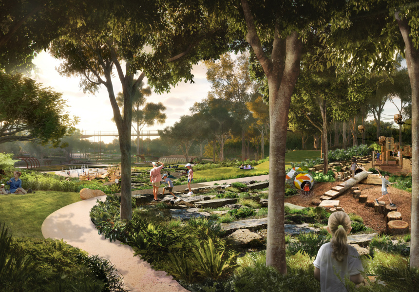 Rendered plans for the park