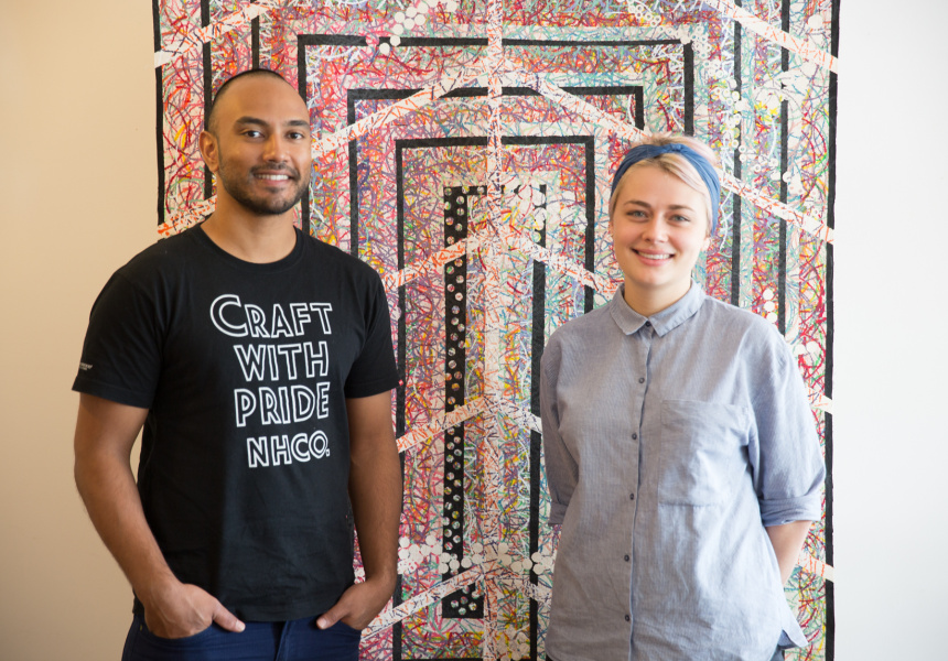 The Print Bar's Jared Fullinfaw and Isabel Hood.