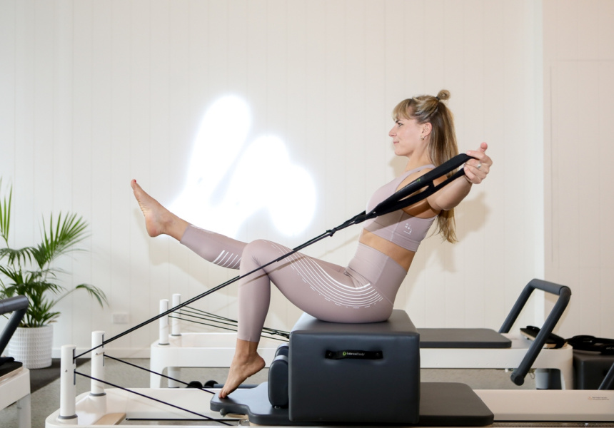 Pilates studio Love Athletica will loan you a reformer.