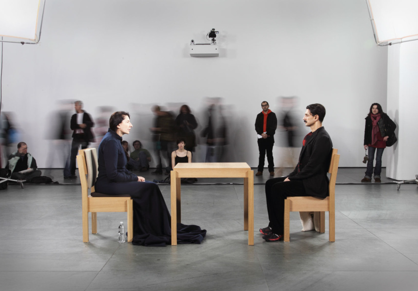 THE ARTIST IS PRESENT, The Museum of Modern Art, New York, NY 2010. Courtesy of the Marina Abramovic Archives