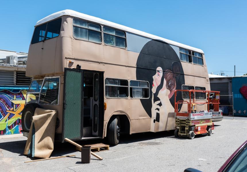 Jack Fran's bus mural