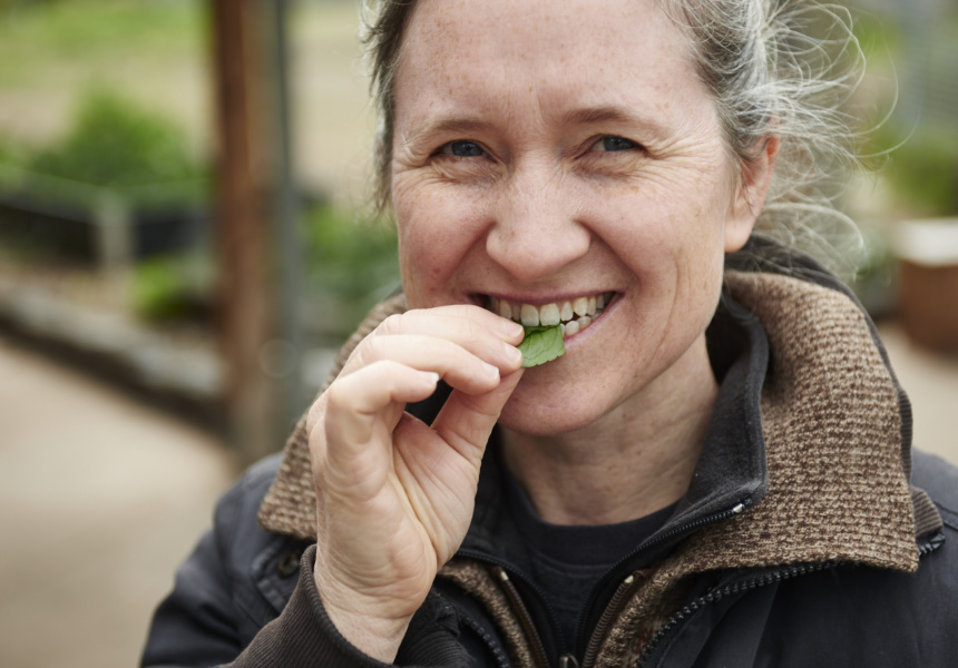 Laurel Coad, nursery manager at CERES Permaculture and Bushfoods Nursery in Brunswick East.