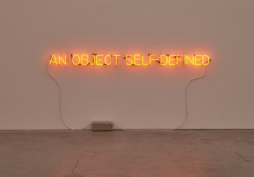 A Short History of My Thought – Joseph Kosuth at Anna Schwarz Gallery