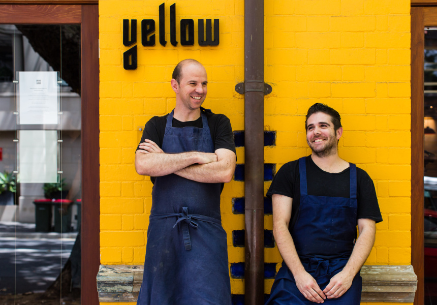 Brent Savage and co-owner Nick Hildebrandt at Yellow