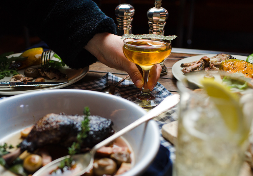 Finish your meal with a digestif.