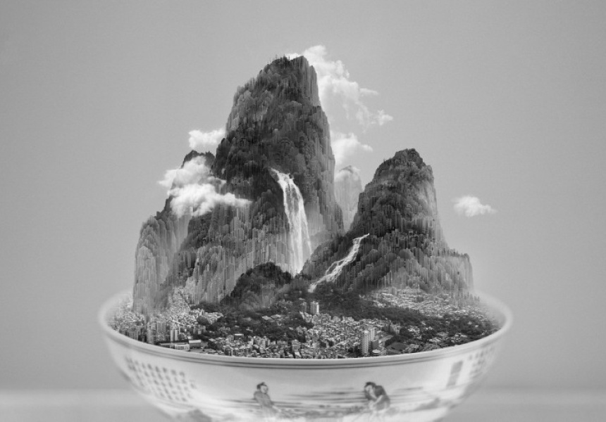A Bowl of Taipei no. 4, by Yang Yongliang