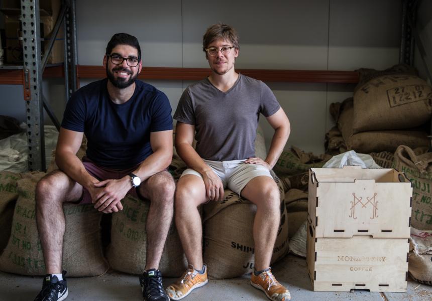 Nader Shahin and Adam Marley at Monastery Coffee