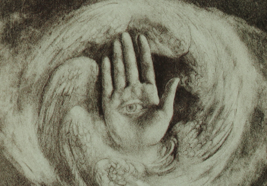 Kahlil Gibran The Divine World (1923) Illustration for The Prophet Charcoal © Gibran Museum