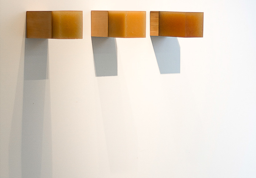 Sarah Smuts-Kennedy, Thoughts on balance 1, 2013, wood, polyurethane, courtesy the artist and Breenspace, Sydney