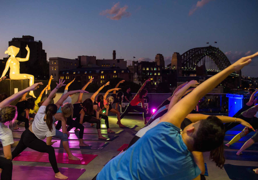 Yoga on the MCA rooftop