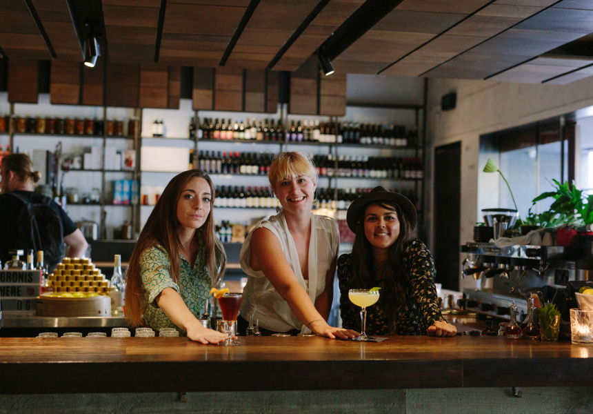 Erin Muller, Emma Mayer and Elise Godwin from Strange Company