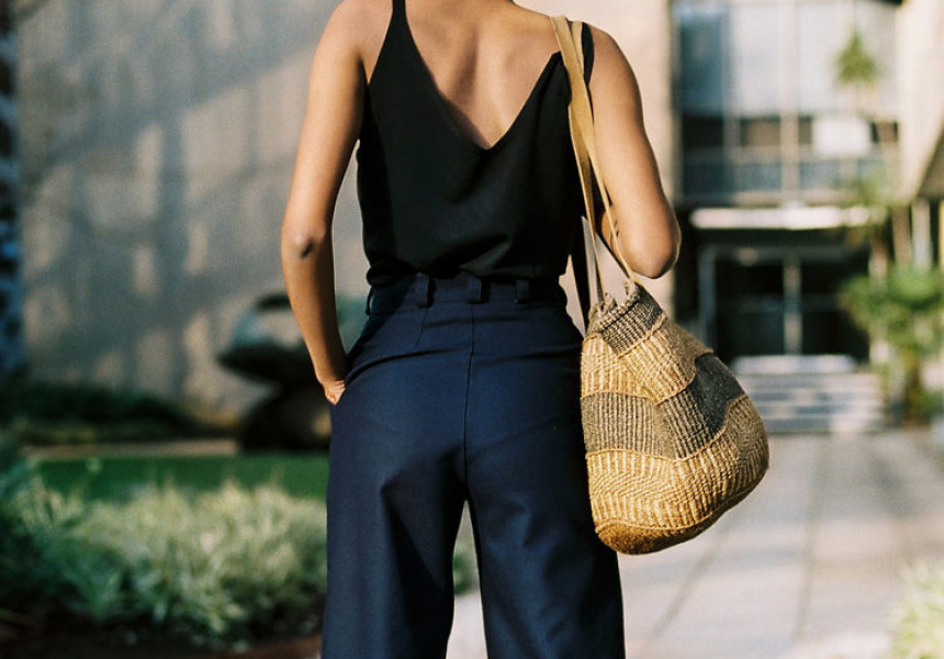 Caves Collect's Lucie navy wool pants