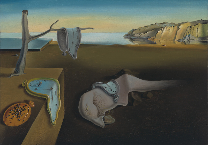 "Salvador Dali? (Spanish, 1904–1989)   The Persistence of Memory, 1931  Oil on canvas, 9 1/2 x 13"" (24.1 x 33 cm)   The Museum of Modern Art, New York. Given anonymously   © 2016 Salvador Dali?, Gala-Salvador Dali? Foundation / Artists Rights Society (ARS), New York"