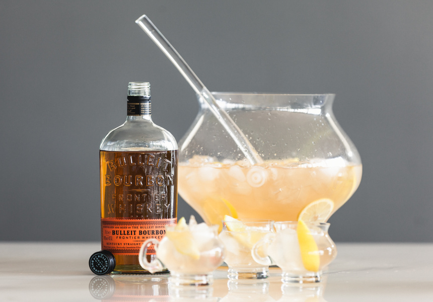 Chris Hysted's Bulleit Lawrenceburg Lemonade recipe.