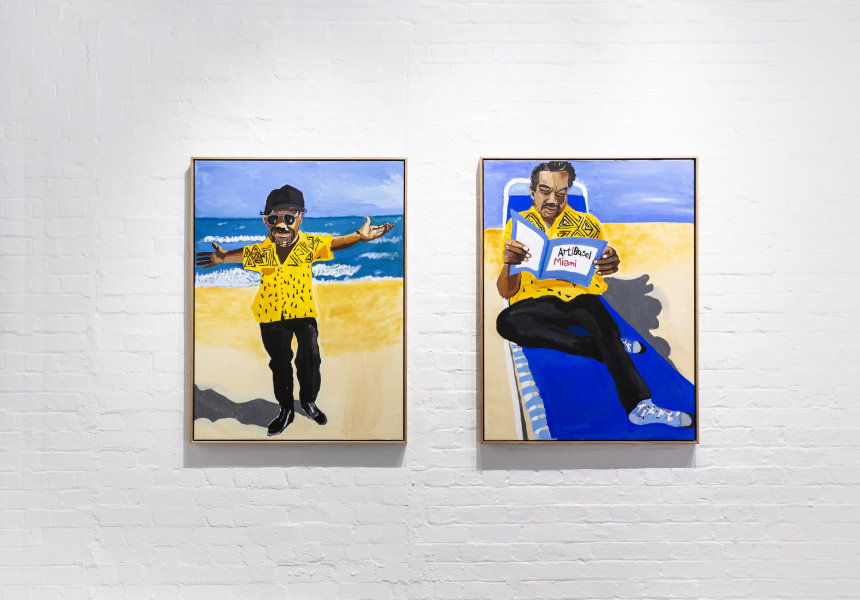 Vincent Namatjira, Coming to America, 2019