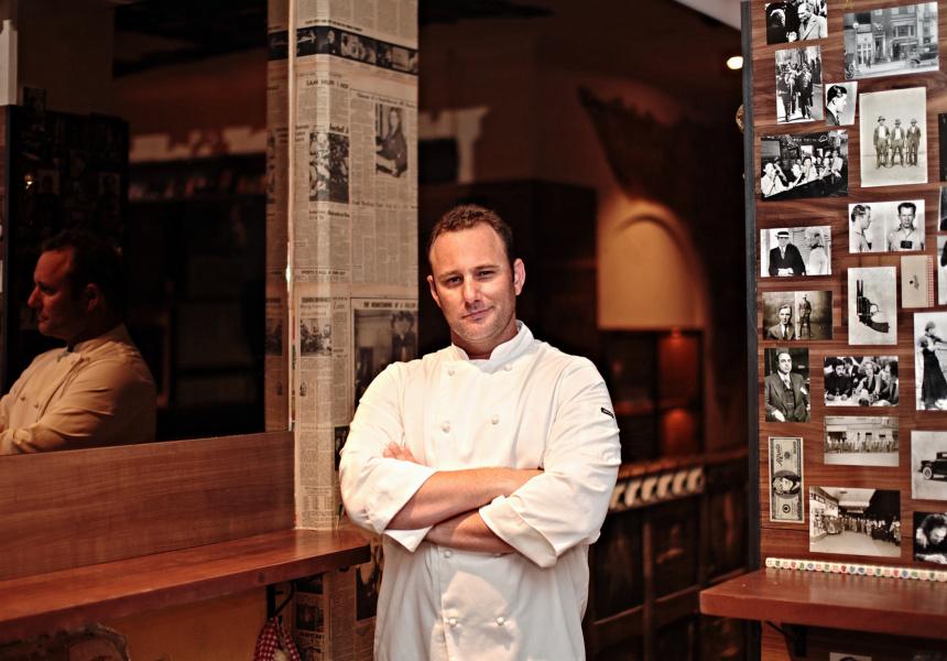 Pizza chef Ben McDonald.